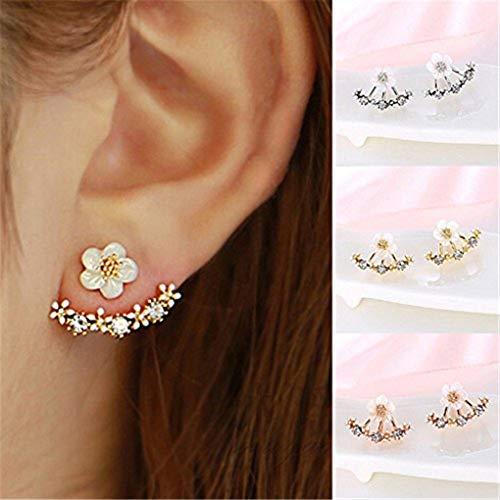 Naomi Women Fashion Accessories Crystal Stud Earrings Boucle doreille Femme Flower Earrings Gold Bijoux Jewelry Silver