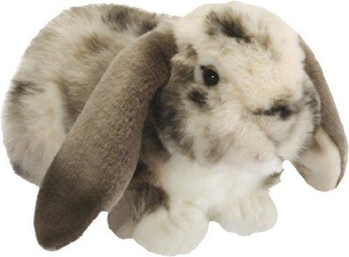 Living Nature British Wildlife Dutch Lop Ear Rabbit Soft Toy Grey