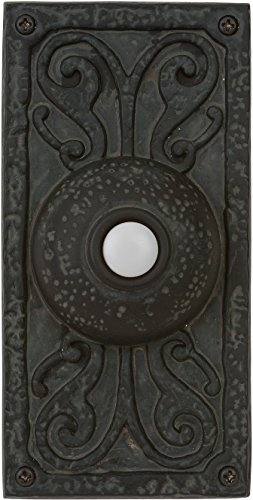 Craftmade PB3037-WB Designer Surface Mount Lighted Doorbell LED Push Button, Weathered Black (5.25