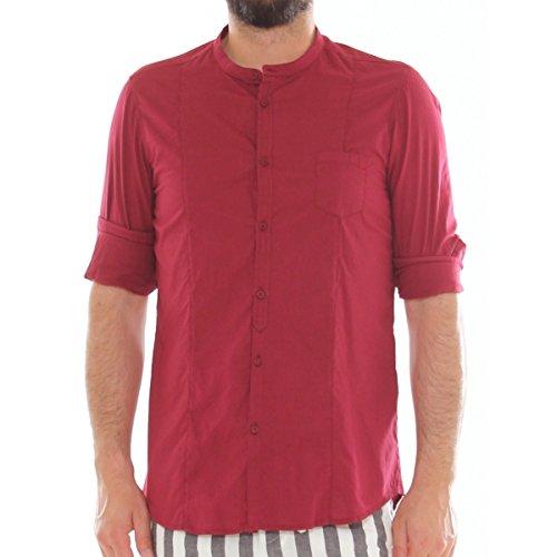AltaTensione - Camisa casual - para hombre Burdeos XX-Large: Amazon.es: Ropa y accesorios