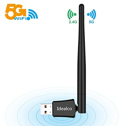 Idealco 600Mbps Wireless WiFi Adapter-2018 Upgraded Version Plug and Play WiFi Dongle,Dual Band 5.8Ghz & 2.4Ghz USB WiFi Network Adapter for Windows10/8.1/8/7/XP Vista Mac OS