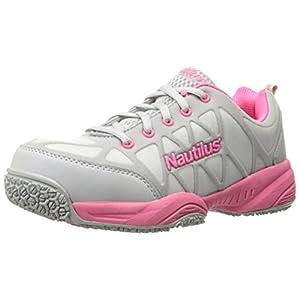 Nautilus 2155 Women's Comp Toe Light Weight Slip Resistant Safety Toe Athletic Shoe, Grey, 8.5 W US