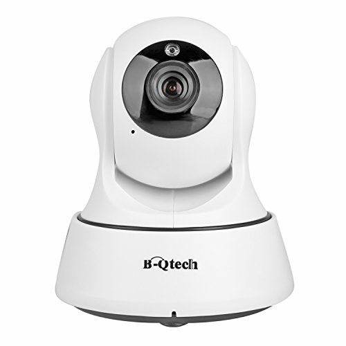 B-Qtech IP Security Camera Wireless Home Wifi Surveillance System 720P HD Video Recording Pan/Tilt Day& Night Vision Email Alarm for Real-time Remote Baby Pet Monitor White