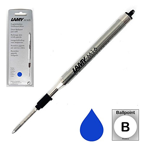 LAMY Ballpoint Refill, Blue Broad (LM16BLB)