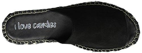 I love candies Slipper, Espadrilles Femme Noir (Black 100)