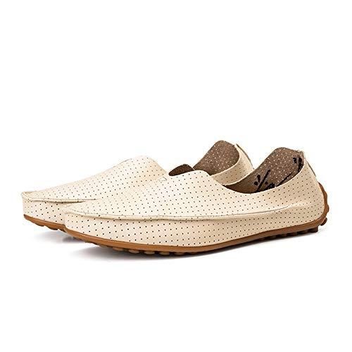 Beige Mocasín Barco Mocasín para 28 Beige Cordones Confortables con Azul de 23 Gommino 0cm Hombres de Gommino Hcwtx Zapatos Zapatos Talla Cuero Mocasines Transpirables 5cm Rqfwn4BB