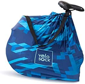 Velo Sock Folding Bicycle Cover for Storage and Transportation Stylish Accessory for Adult Bike with Carrying Strap Bike Travel Protection Cover Stretchy Dirt Proof Fabric