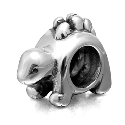 Lucky Animals Head Charm Authentic 925 Sterling Silver Pet Charms for European Bracelet ()