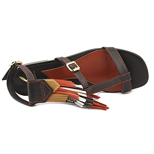Sandals 5 Boho T Atwood Medium B Black Strap Leather 7 Brian Womens B Megan M Zcww81q
