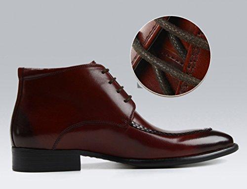 HWF Scarpe Uomo in Pelle Scarpe da uomo in pelle Abbigliamento formale Scarpe alte da lavoro Stivali stile inglese Martin (Colore : Marrone, dimensioni : EU 41/UK7) Marrone