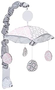 GEENNY Musical Mobile, Pink Grey Bohemia Geometry, Multi-Colors, Crib