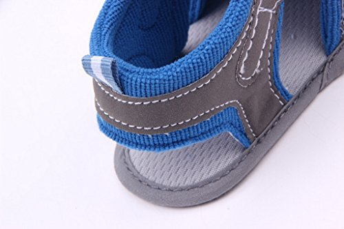 EOZY Zapatos Para Bebé Primero Paso Andar Gris Azul Otoño Pirmavera Longitud 13cm Longitud 13cm