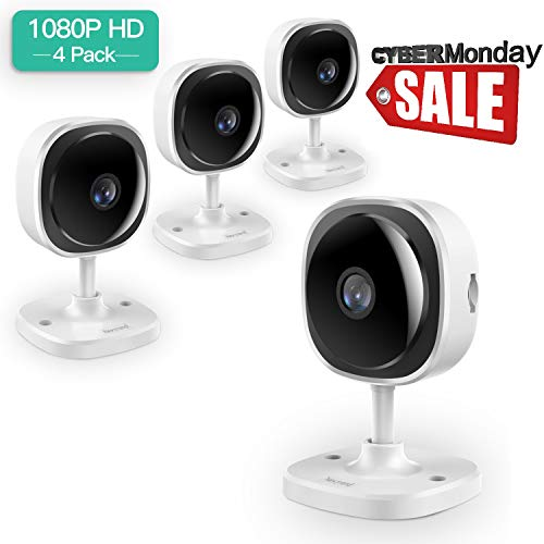 [Full HD] 1080P Wireless Security Camera,NexTrend 180 Degree Panoramic IP Camera Two-Way Audio, Motion Detection,Cloud Storage,Night Vision for Home/Office/Baby/Pet Monitor,Work on Phone,PC-4 Pack