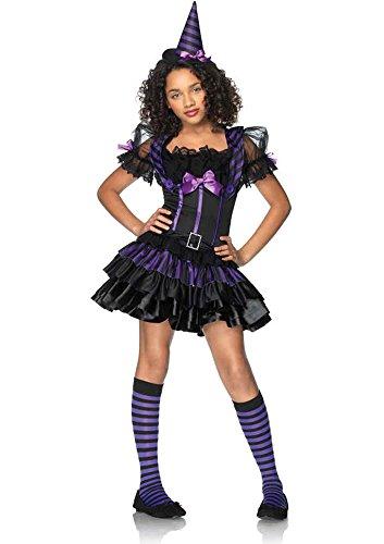 UHC Spell Casting Sweetie Junior Preteen Tween Girl's Witch Fancy Dress Costume, Teen JR S/M (Scary Halloween Costumes For Teens)