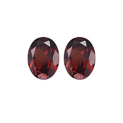 2.14 Cts of 7x5 mm Oval Matching Loose Garnet (2 pcs set) Gemstones -