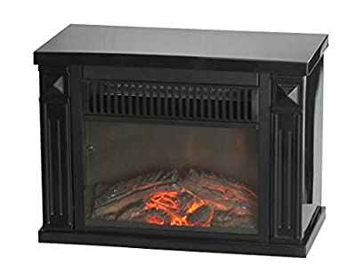 Comfort Glow Mini Hearth, Black, 4,100 BTU- EMF161