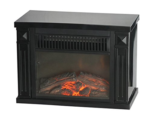 Comfort Glow EMF161 1200-watt Hearth Portable Fireplace, Mini, Midnight Black