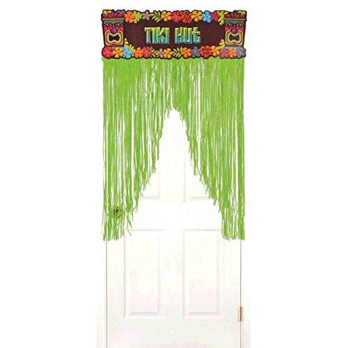 Amscan Tiki Party Metallic Door Curtain, 4.5' x 3'