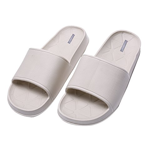Pantoufles Chaussures Slip Intérieur Plancher Salle De Bain Unisexe (43, Noir)