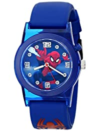 Marvel Ultimate Spider-Man Kids 'spd3425 Analog Display Azul Reloj de cuarzo analógico