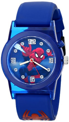 Marvel Ultimate Spider-Man  Kids' SPD3425 Analog Display Analog Quartz Blue Watch