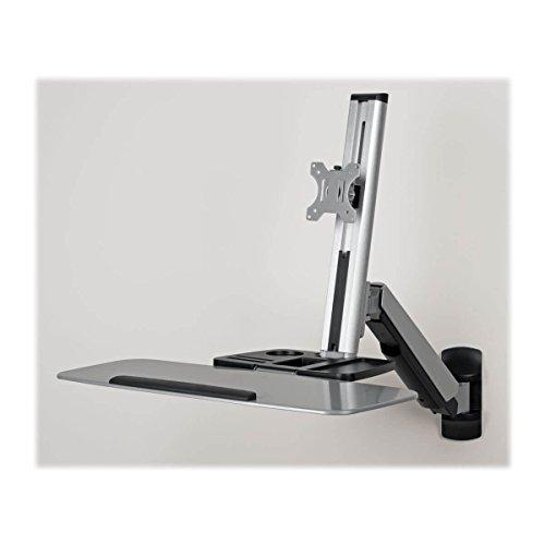 Tripp Lite Wall Mount for Sit Stand Desktop Workstation Height-Adjustable Standing Desk, Single Display (WWSS1332W)