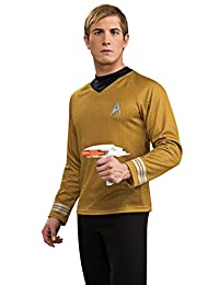 Rubies Costume Star Trek Into Darkness Deluxe Captain Kirk Shirt with Emblem, Gold
