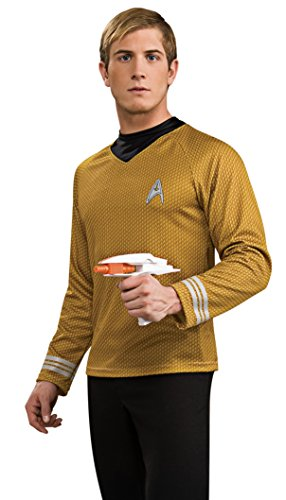 Rubie's Star Trek Into Darkness Deluxe Captain Kirk Shirt With Emblem, Gold, X-Large Costume