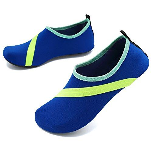 Vifuur Unisexe Séchage Rapide Aqua Chaussures De Leau Piscine Plage Yoga Chaussures Dentraînement Pour Hommes Femmes Newblue