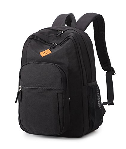 Abshoo Classical Basic Womens Travel Backpack For College Men Water Resistant Bookbag (Black) ()