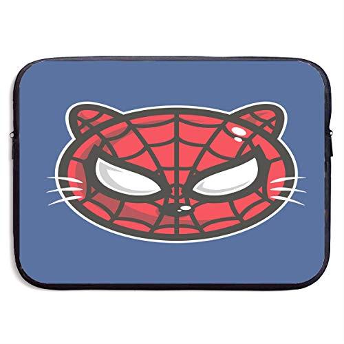 Cartoon Cat Spidecat Head 13/15 Inch Portable Zipper Laptop Protective Bag Cover Handbag Water Resistant 15 Inch
