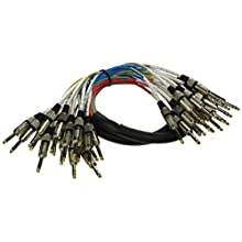 """Seismic Audio - SASRT-16x5 - 16 Channel TRS 1/4"""" Snake Cable - 5 Feet"""