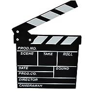 Clapboard, Yamix Wooden Clapboard Director Film Movie Cut Action Scene Slateboard Clapper Board Slate - Black S