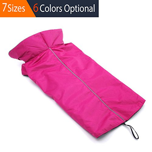 ThinkPet Outdoor Waterproof Reflective Dog Winter Jacket, Dog Rain Coats, Fleece Dog Sweater, S, - Dog Lined Fleece Collars