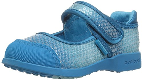 Price comparison product image pediped Girls' Flex Leah Mary Jane Flat,  Frost,  26 E EU Toddler (9-9.5 US)