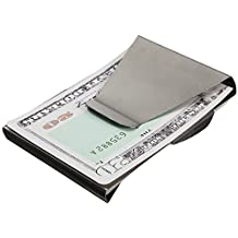 KINGSO Slim Stainless Steel Double Sided Money Clip Wallet Purse Credit/ID Card Holder Silver