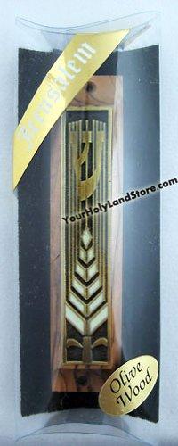 Yourholylandstore Olive Wood Mezuzah From Israel by YourHolyLandStore by YourHolyLandStore (Image #1)