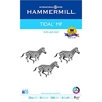 Hammermill Paper, Tidal MP, 20lb, 8.5 x 14, Legal, 92 Bright, 500 Sheet / 1 Ream (162016), Made In The USA