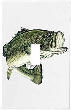 Largemouth Bass Fish Wallplate Decorative Light Switch Plate Cover 1 Gang