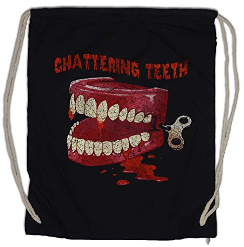 Chattering Teeth Drawstring Bag Gym Sack]()