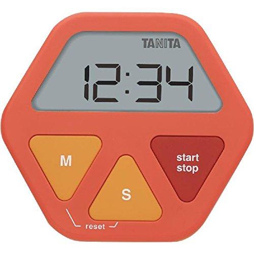 Tanita 타니타 유리에 붙는 디지탈 타이머 오렌지 TD412OR