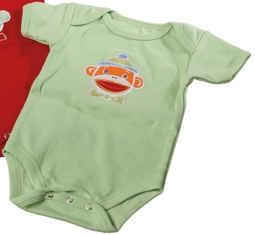 Monkey Monkeez Sock - Genuine Monkeez Embroidered Monkey Romper Choose Color (Green)