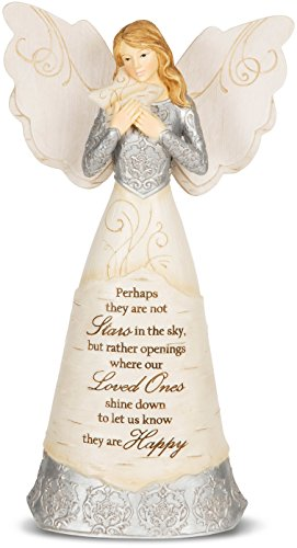 Elements Angel Statue - Pavilion Gift Company 82338 Elements Stars in The Sky Angel Figurine, 9-Inch