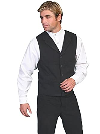 Men's Steampunk Vests, Waistcoats, Corsets Brushed Cotton Vest  AT vintagedancer.com