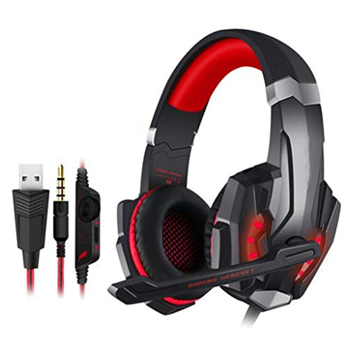 Wired Headphones, Head-Mounted Gaming Headset with Rotatable Noise Reduction Mic And Volume Control for PS4, Nintendo…