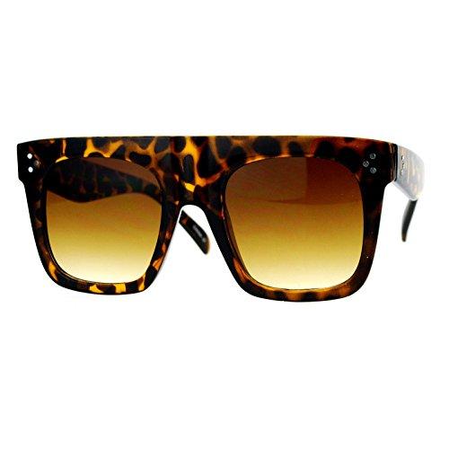Oversized Square Sunglasses New Hip Fashion Flat Top Flat Frame Tortoise, - For Men Hip Sunglasses
