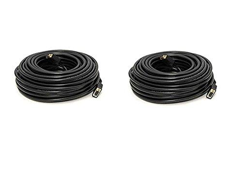 - C&E 2 Pack, 50 Feet, VGA Male to Male Black, with ferrites Black, CNE503707
