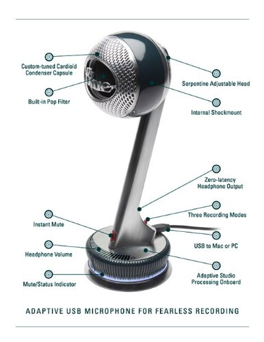 Blue Nessie Adaptive USB Condenser  Microphone, Cardioid by Blue (Image #5)