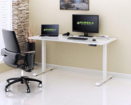 Eureka Ergonomic Electric Height Adjustable Standing Desk-Rectangular,Commercial Grade, 5 Years Limited Warranty ()