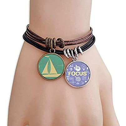 master DIY Sport Sailing Illustration Blue Pattern Bracelet Rope Wristband Force Handcrafted Jewelry Estimated Price -